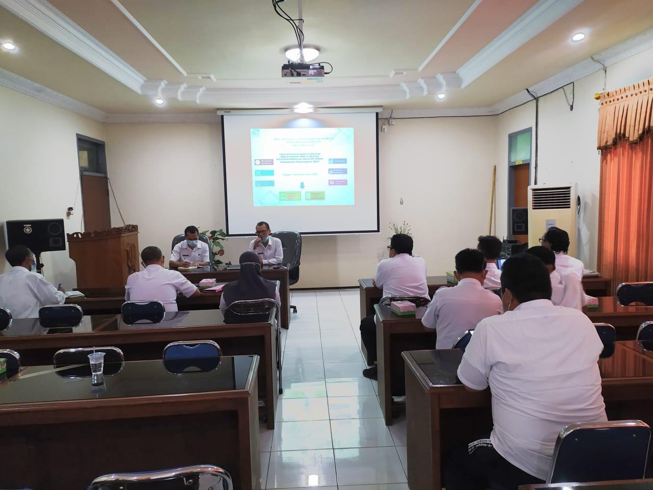 Evaluasi Renaksi ZI 2020 dan Paparan Renaksi 2021 5 OPD Piloting di Inspektorat Bojonegoro